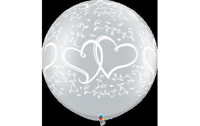 Balon 1M srebrny metaliczny...