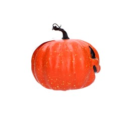 Ozdobna dynia dekoracja halloweenowa świecąca 20cm