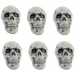 Mini czaszki dekoracyjne na przyjęcie Halloween 18 sztuk
