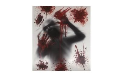 Dekoracja na okno z krwią...