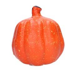 Dekoracja halloweenowa dynia ozdobna świecąca 11cm