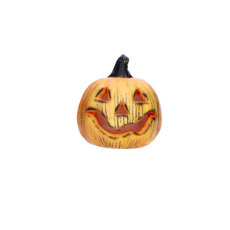 Przypalona ozdobna dynia halloweenowa dekoracja 13cm