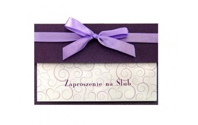 Zaproszenie fioletowe z...