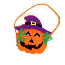Koszyczek filcowy dynia pojemnik na słodycze przekąski na halloween