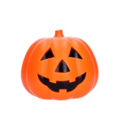Dekoracja halloweenowa dynia ozdobna świecąca 15cm