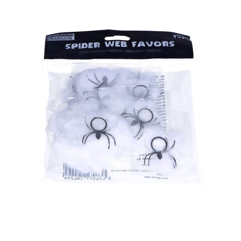 Pajęczyna biała z pająkiem 12g