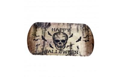 Duża taca z czaszką patera do serwowania przekąsek na halloween 39x24cm