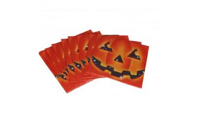 Serwetki papierowe halloweenowa dynia 33x33cm 20 sztuk