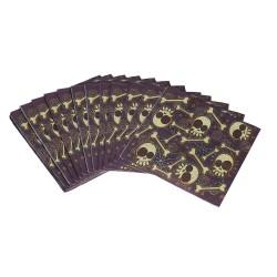 Papierowe serwetki na halloween Kości 33x33cm 20 sztuk
