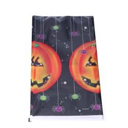 Jednorazowy obrus halloweenowy czarny dynie 137x260cm