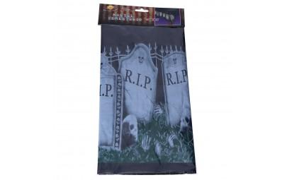 Jednorazowy obrus halloweenowy Cmentarz 274x137cm