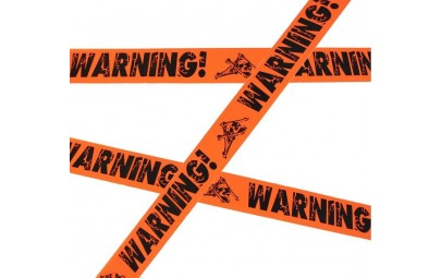 Taśma ozdobna Warning! 5,5m
