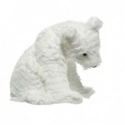 Miś polarny siedzący biały...