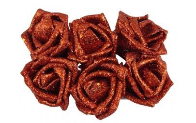 Róża z brokatem...