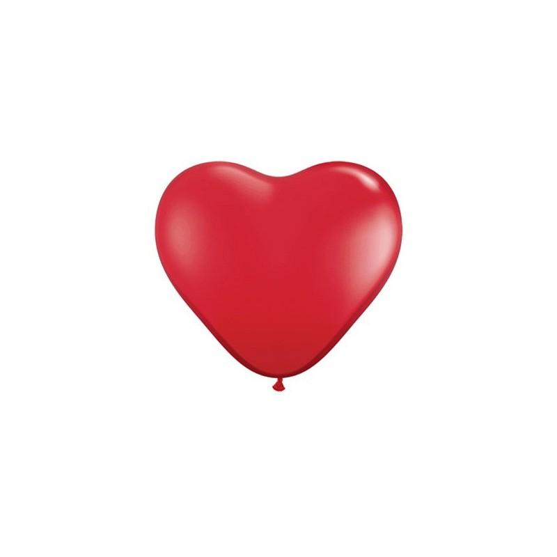 Balon 11 serce czerwone pastel 100 szt.