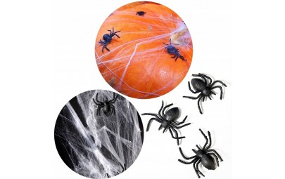 Sztuczne pająki plastikowe...