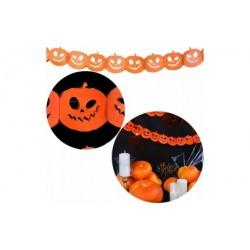 Ozdoba dynie z papieru girlanda na halloween 3metr