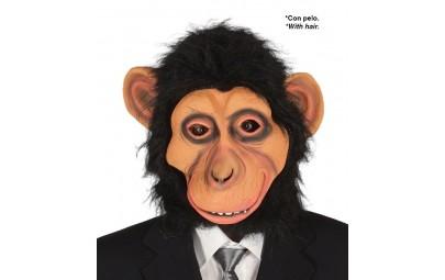 Maska goryl z włosami...