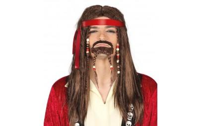 Peruka długie włosy brązowe...