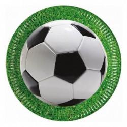 Talerz papierowy Kokliko Football Party 23cm 8szt