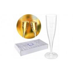 Jednorazowe kieliszki do szampana plastikowe 10szt