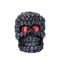 Świeca czaszka czarna 10cm