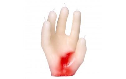Świeczka krwawa dłoń 14x5cm