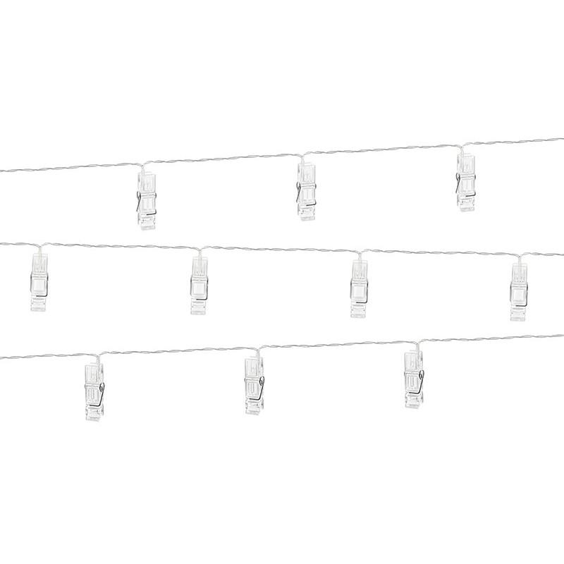 Lampki Led klamerki 10 szt. przezroczyste 1,4m