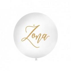 Balon 1M Żona biały pastel