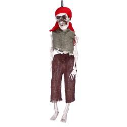 Szkielet pirata wiszący dekoracja halloweenowa  40cm