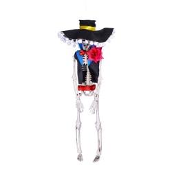 Wiszący szkielet kościotrup halloweenowy Meksykanina 40cm