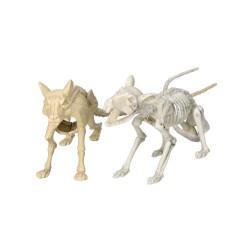 Szkielet szczura plastikowy dekoracja halloweenowa 20cm