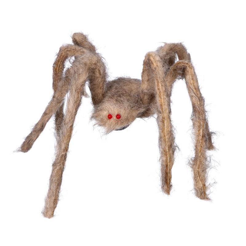 Pająk szary 60cm włochaty dekoracja na halloween
