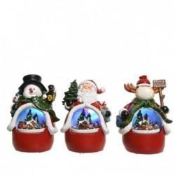 Figura bożonarodzeniowa led interaktywna 11x12x18cm (mikołaj/bałwan/renifer)