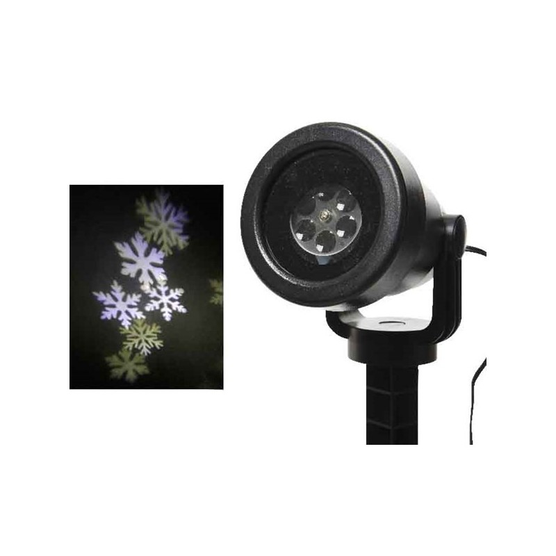 Projektor led zew/wew płatki śniegu zimny biały 15x11x21cm