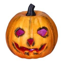 Ozdobna dynia przypalona halloweenowa dekoracja 17cm