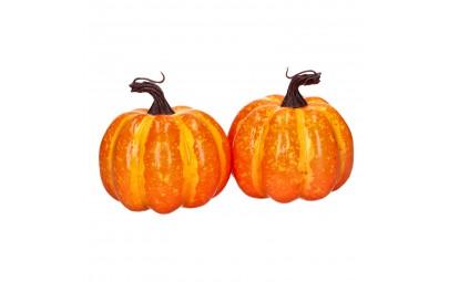 Ozdobna dynia halloweenowa dekoracja 2szt 10cm