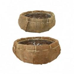 Kosz z włókna kokosowego /2szt