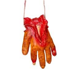 Naszyjnik z krwawą ręką
