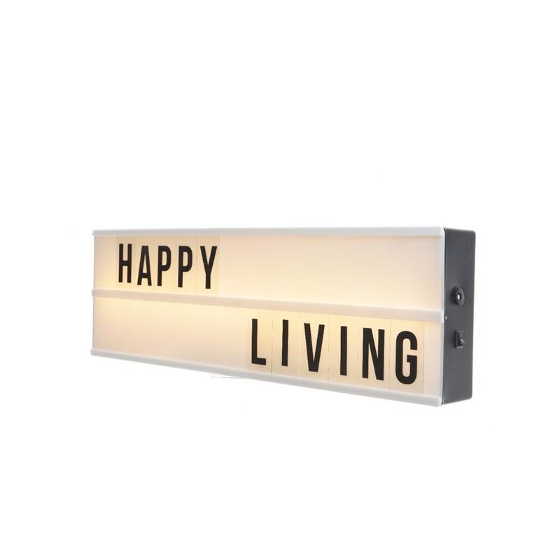 Tablica led wewnętrzna Happy Living ciepły biały 50x15x5,5cm