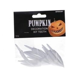 Zębiska do dekoracji dyni na halloween