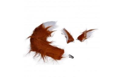 Zestaw uszy i ogon brązowy 40cm