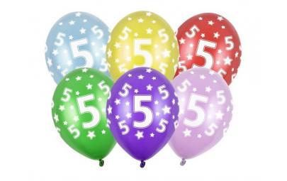 Balon 30cm 5 Birthday...