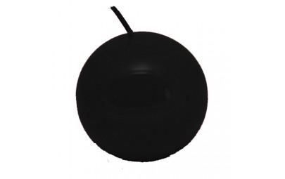 Świeca kula lakier czarny 80mm