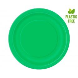 Talerzyki papierowe zielone...