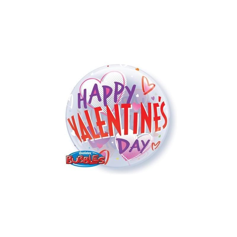 Balon bubble 22 Happy Valentine's day