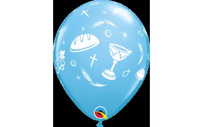 Balon 11 komunijny niebieski