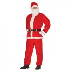 Strój dla dorosłych Mikołaj roz.L (bluza, spodnie, czapka, broda, pasek)