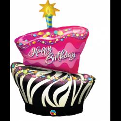 Balon foliowy 41 tort zebra...