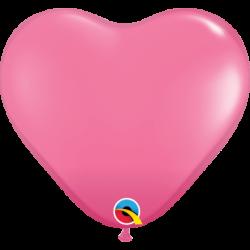 Balon 6 serce ciemny róż...